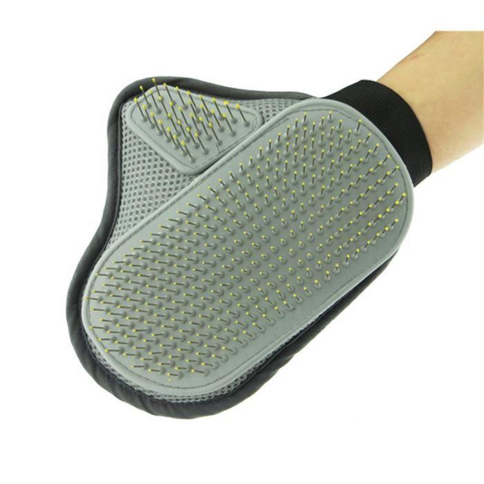 gant de massage pour chien toilettage brosse de pour. Black Bedroom Furniture Sets. Home Design Ideas