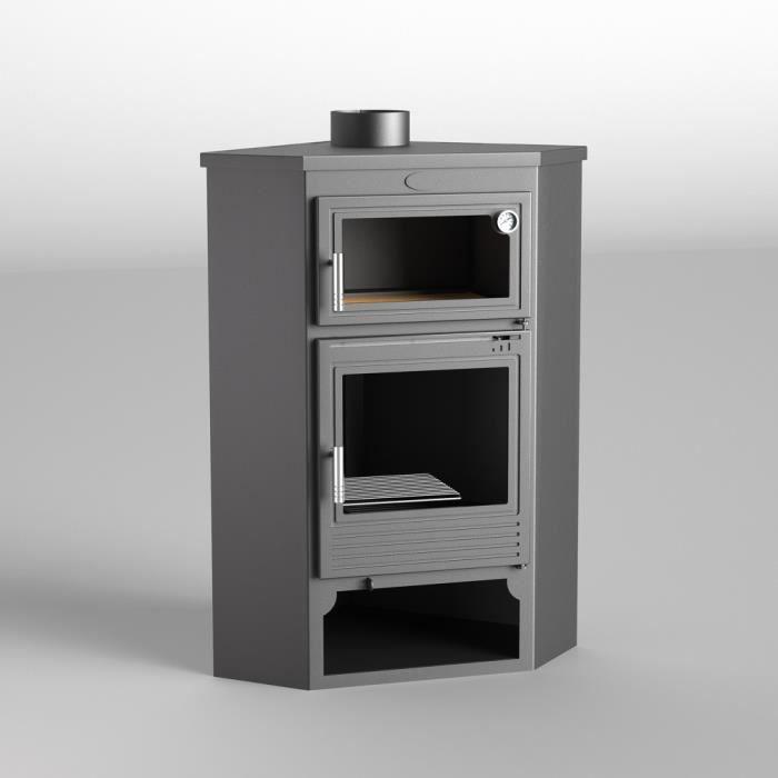 m 105h po le bois de coin en acier avec four et b cher. Black Bedroom Furniture Sets. Home Design Ideas