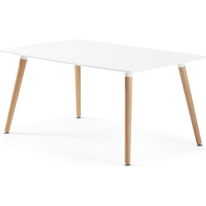 Table manger blanche bois - Achat / Vente pas cher