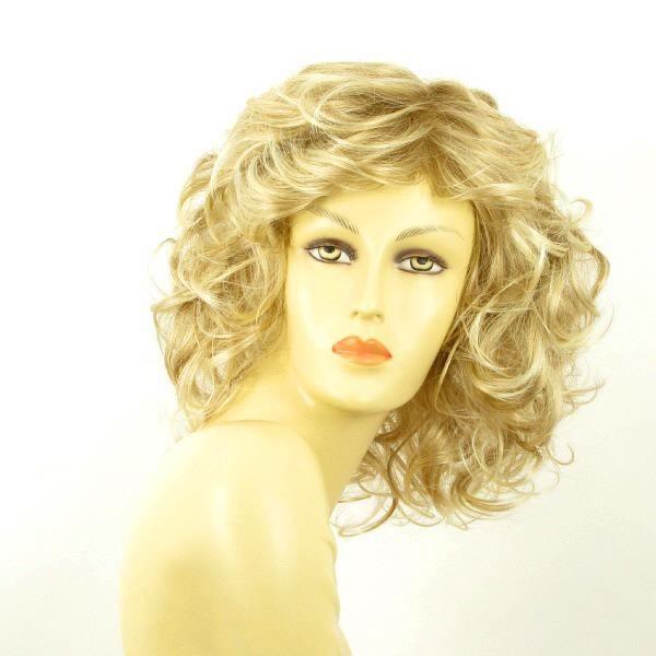 Perruque blonde bouclée mi-longue JAMELIA