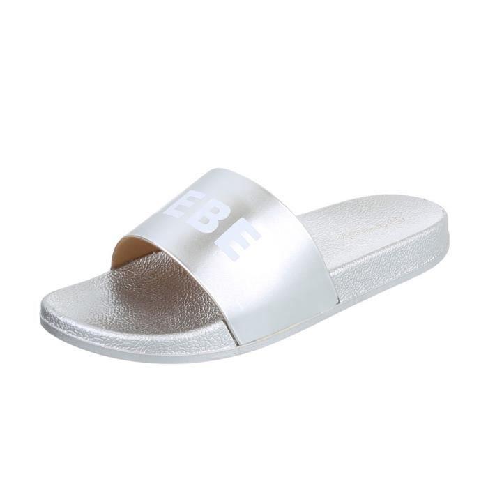 Chaussures femme sandales mule argent 41
