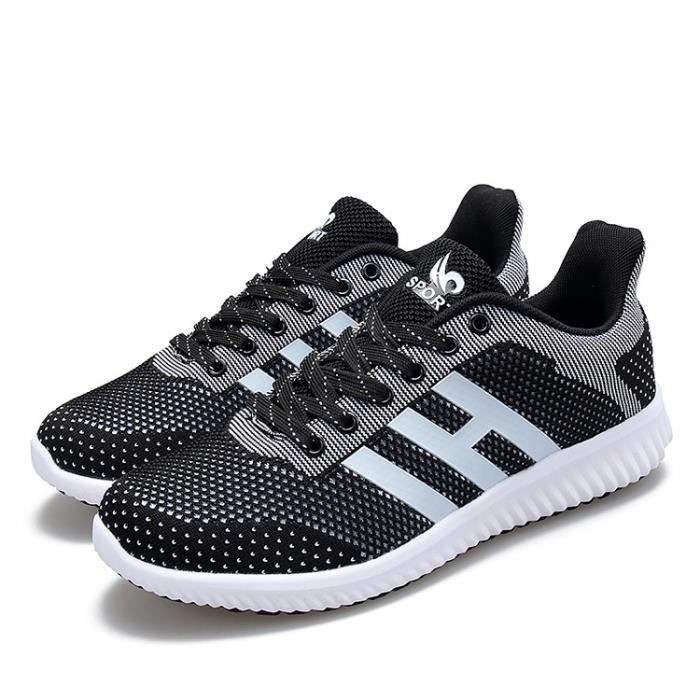 Homme Chaussures De Course Sports Fitness Gym Sneakers Poids LéGer