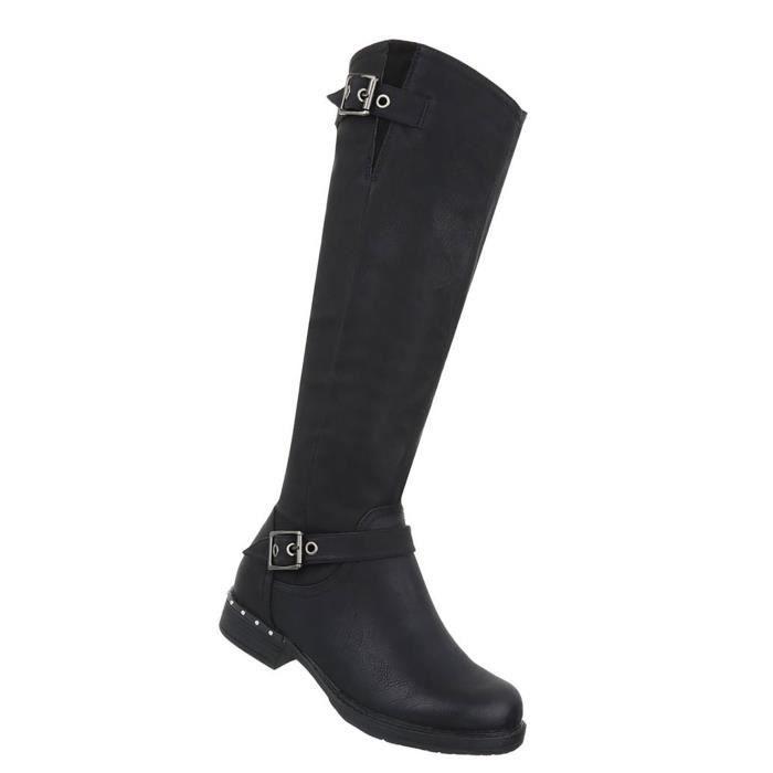 Chaussures femmes bottes Used optique noir 41