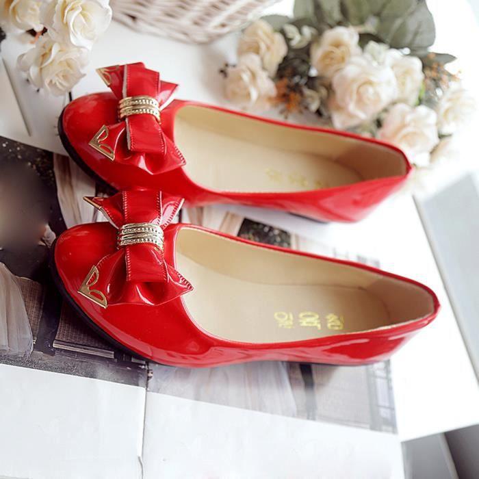 Printemps Automne Toe Talon Plat Bow Tie Chaussures Femmes Chaussures plates de la mode des femmes