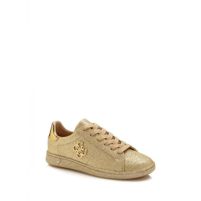 55d3f720f41 Guess Baskets Femme Sneaker Baysic Effet Paillette Or Or - Achat ...