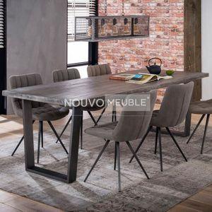 TABLE À MANGER SEULE Table à manger industrielle en bois SALEM