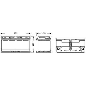 BATTERIE VÉHICULE FULMEN Batterie auto START-STOP AGM FK950 (+ droit