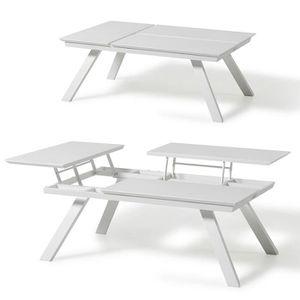 TABLE BASSE Table basse L 120 cm 3 plateaux relevables Kiona