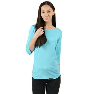 370c4442f5b8f T-SHIRT Les femmes de coton solide pleine manches T-shirt
