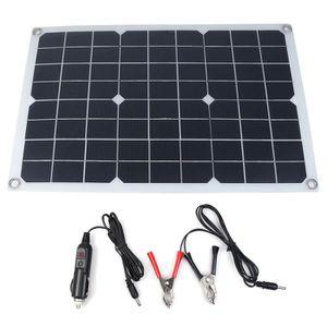 KIT PHOTOVOLTAIQUE LAVENT Panneau solaire 20W 12V Monocristallin 5V U