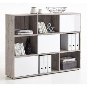 Biblioth que etag re cube blanc achat vente - Poids d un metre cube de sable ...