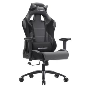 SIÈGE GAMING Songmics® Fauteuil Baquet Gaming Chaise gamer Haut