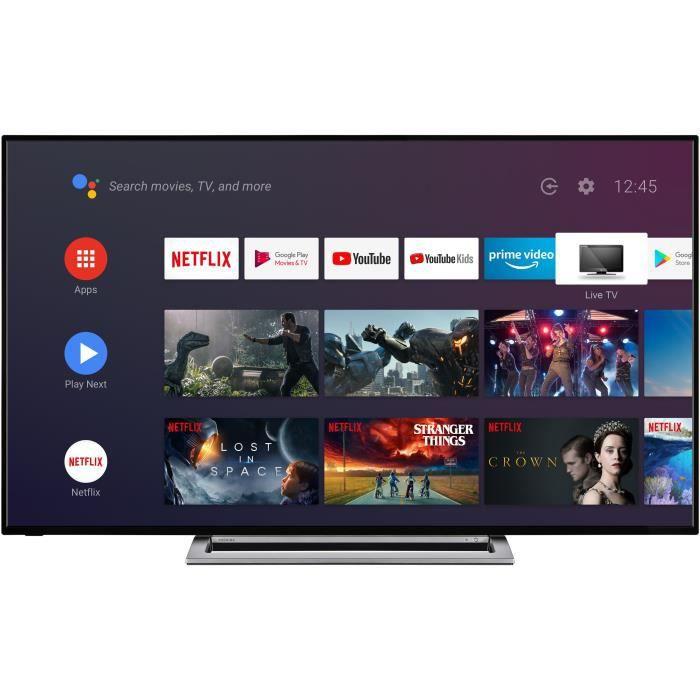 """Plus de détails TOSHIBA 65UA3A63DG TV 4K UHD - 65"""" (164 cm) - 4K HDR - AndroidTV - Google Assistant - 4xHDMI -"""