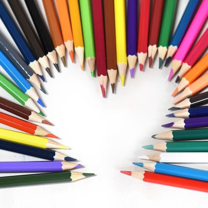 36 couleurs non toxiques dessin crayons de couleur en bois coloriage set pour etudiants adultes. Black Bedroom Furniture Sets. Home Design Ideas