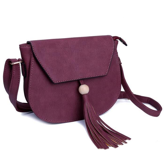 4 couleurs Tassel Croix Sacs à main pour Body grand sac à main dembrayage B60QK