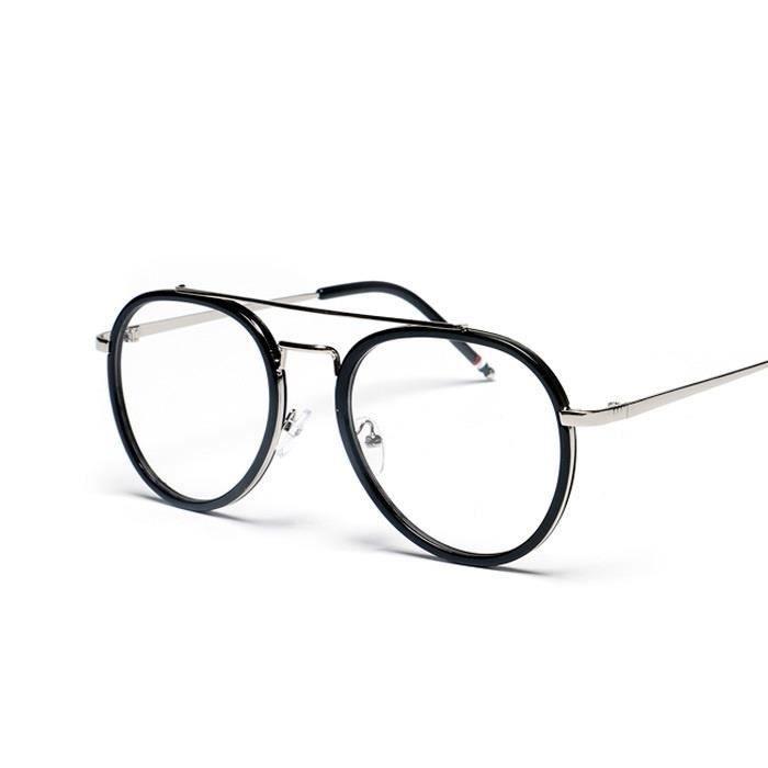 New Vintage unisexe Hommes Femmes Lunettes Mode Rétro ronde lunettes ... 465c694c40f9