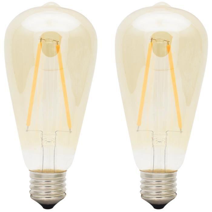 ampoule led filament 2w achat vente ampoule led filament 2w pas cher soldes d s le 10. Black Bedroom Furniture Sets. Home Design Ideas