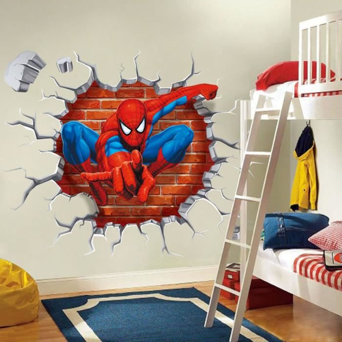 45 x 50 cm 3d spiderman dessins anim s movie stickers muraux pour enfants chambres maison - Spiderman 1 dessin anime ...