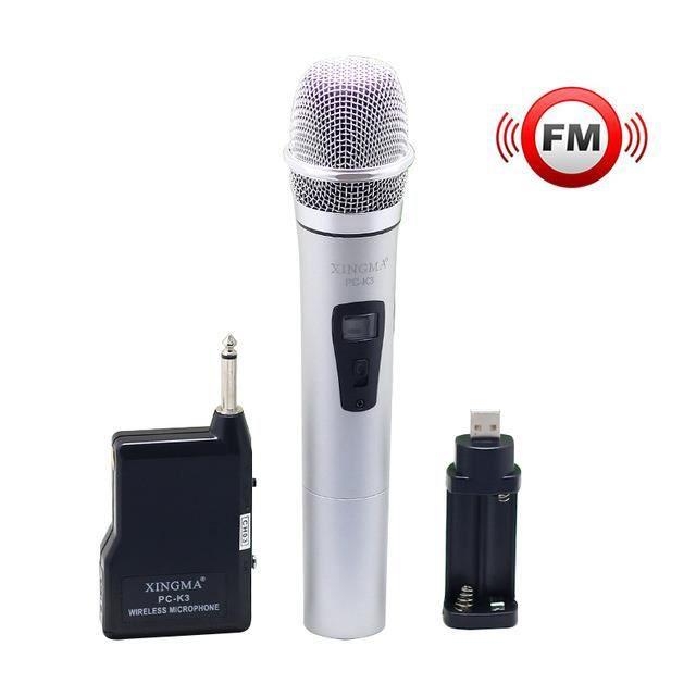 Microphone Sans Fil Microcontrôleur Vhf Portable Avec Récepteur Système De Performance Lcd En Métal Pour Karaoke