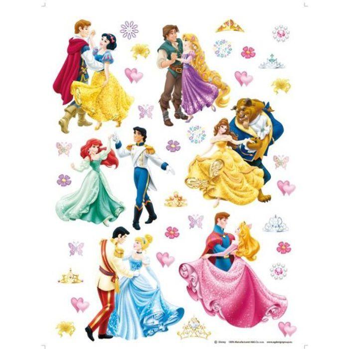 36 stickers g ant prince et princesse disney achat vente stickers soldes d s le 27 juin. Black Bedroom Furniture Sets. Home Design Ideas