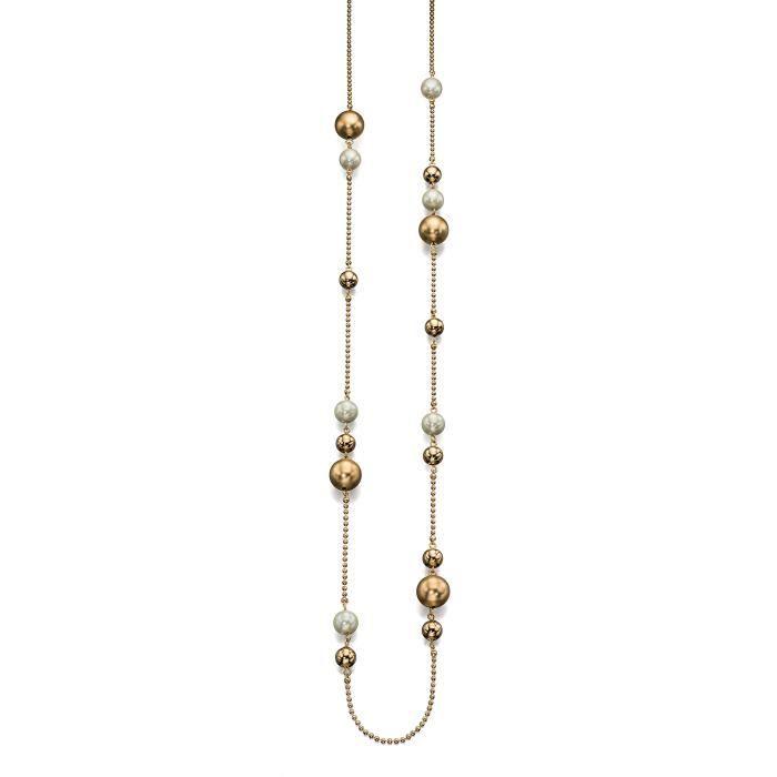 Fiorelli Perle Costume et collier de perles sur la chaîne de boule en or de 95-100cm 1Z8P0R