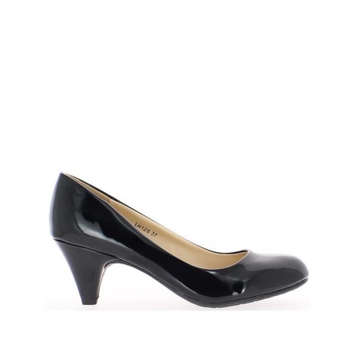 Escarpins classiques noirs verni…