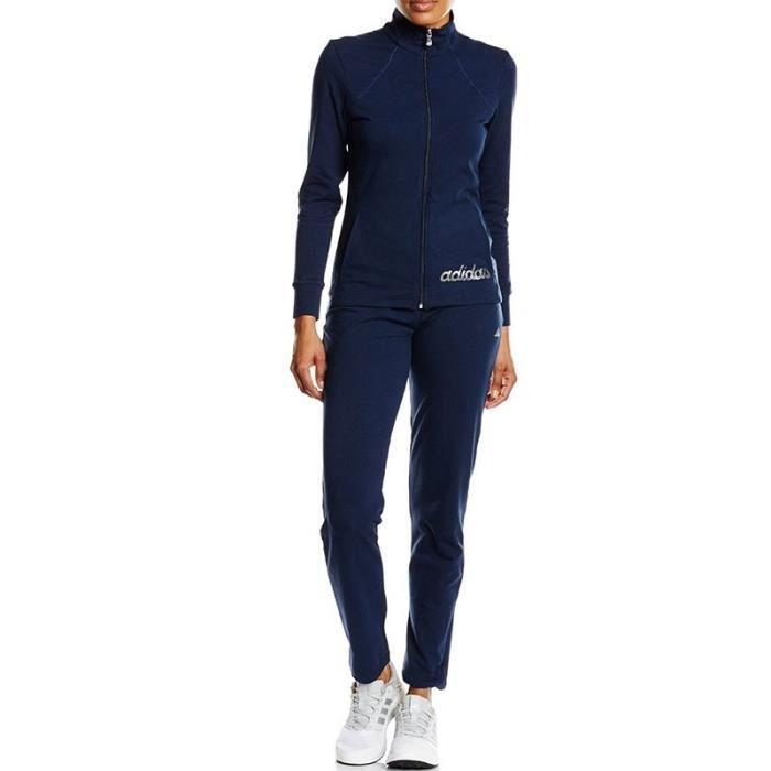 Survêtement coton Femme Adidas Bleu Bleu - Achat   Vente survêtement ... 78da76905d6