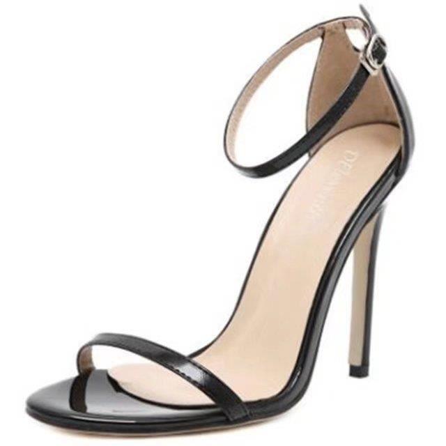 Chaussure à talons hauts en cuir de style européen Mode Chaussures sexy à cheville Printemps Été Femmes Chaussures