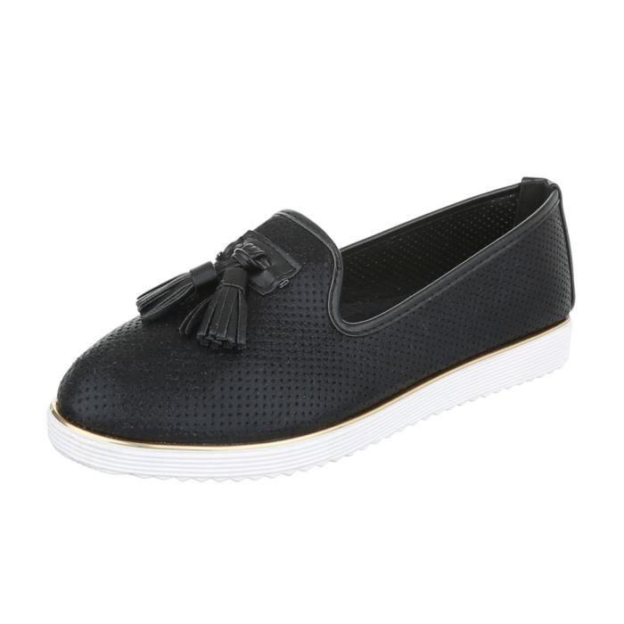 Femme chaussures flâneurs Slipper bleu 36 zkxOv