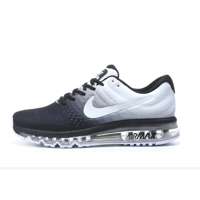 a70f1af54a746 NIKE Air max 2017 Homme Basket Running Chaussures Noir et Blanc 849559-010