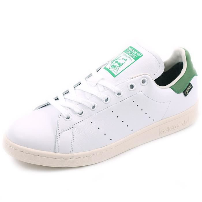 new styles ae86f 6be40 BASKET Chaussures Stan Smith Gore-Tex Blanc Vert Homme Ad