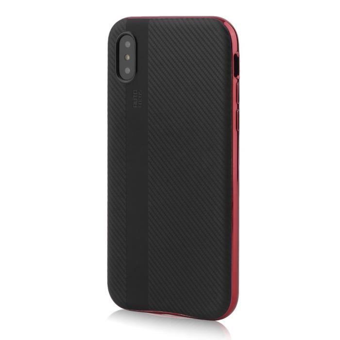 coque iphone x antichoc rouge