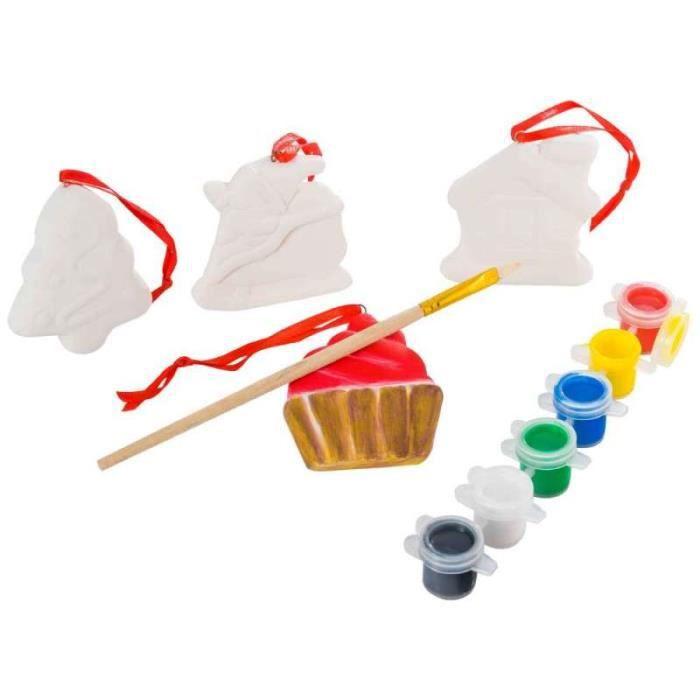 kit de peinture avec figurine de noel achat vente kit. Black Bedroom Furniture Sets. Home Design Ideas