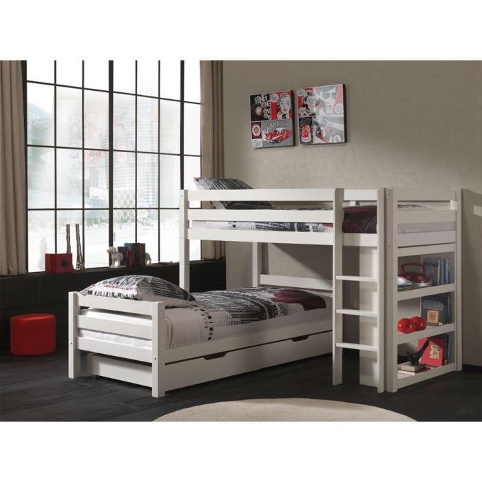 lits superpos s en l swithome ruben avec tiroir 3700746703742 achat vente lits superpos s. Black Bedroom Furniture Sets. Home Design Ideas