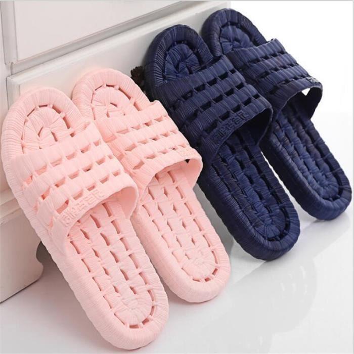 pantoufles hommes 2017 nouvelle arrivee marque de luxe chaussure plein air branché d'été Grande Taille 35-40 B4P2f