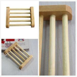DISTRIBUTEUR DE SAVON plat boîte titulaire porte savon en bois naturel s