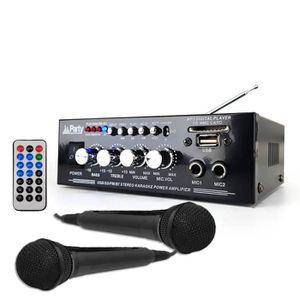 AMPLI PUISSANCE Amplificateur Soirée Karaoke 50W - Stéréo - USB-BL