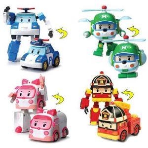 VOITURE À CONSTRUIRE 4 modèle Robocar Poli action de dessins animés Toy