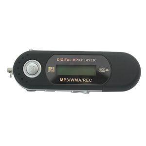 LECTEUR MP3 Clé USB 2.0 Lecteur MP3 Enregisteur Noir Ecran LCD