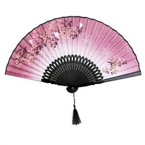 ACCESSOIRE DÉGUISEMENT Eventail Pliant pour Femmes Style Papillon et Fleu