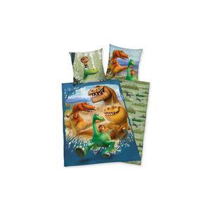 PARURE DE COUETTE Linge de lit Le bon Dinosaure 135 x 200cm 100% Cot