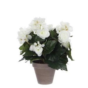 FLEUR ARTIFICIELLE MICA DECORATIONS Plante artificielle Begonia blanc