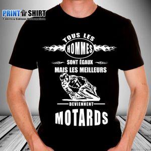 T shirt motard achat vente t shirt motard pas cher black friday le 24 11 cdiscount - T shirt personnalise photo et texte ...
