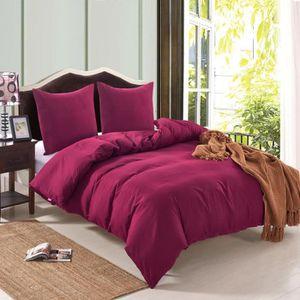 housse de couette bordeaux achat vente pas cher. Black Bedroom Furniture Sets. Home Design Ideas
