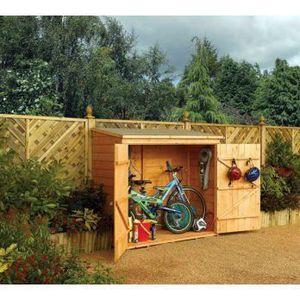 ABRI VÉLO - MOTO abri vélo bois 1.50 m² - 183 x 83 x 164 cm wall...