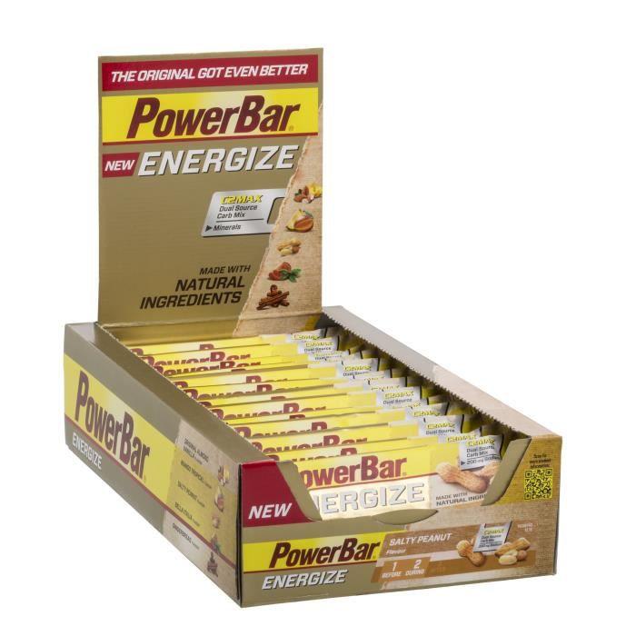 POWERBAR Lot de 25 barres Energize - Cacahouète salée - 55 g