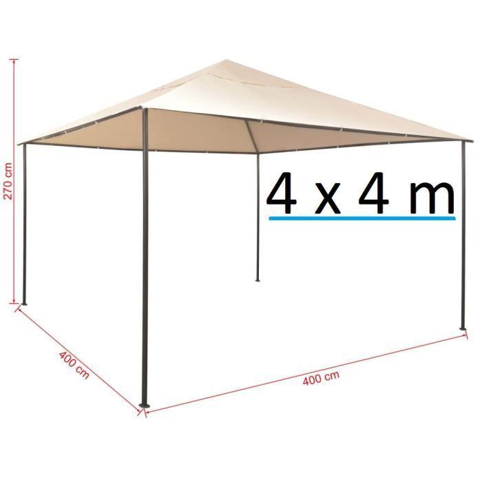 Tente de Jardin 4 x 4 m Pyramide chapiteau tonnelle tente ...