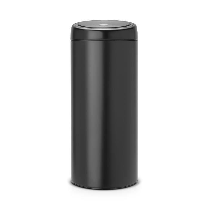 brabantia poubelle touch bin 30 l noir mat achat vente poubelle corbeille poubelle 30 l. Black Bedroom Furniture Sets. Home Design Ideas