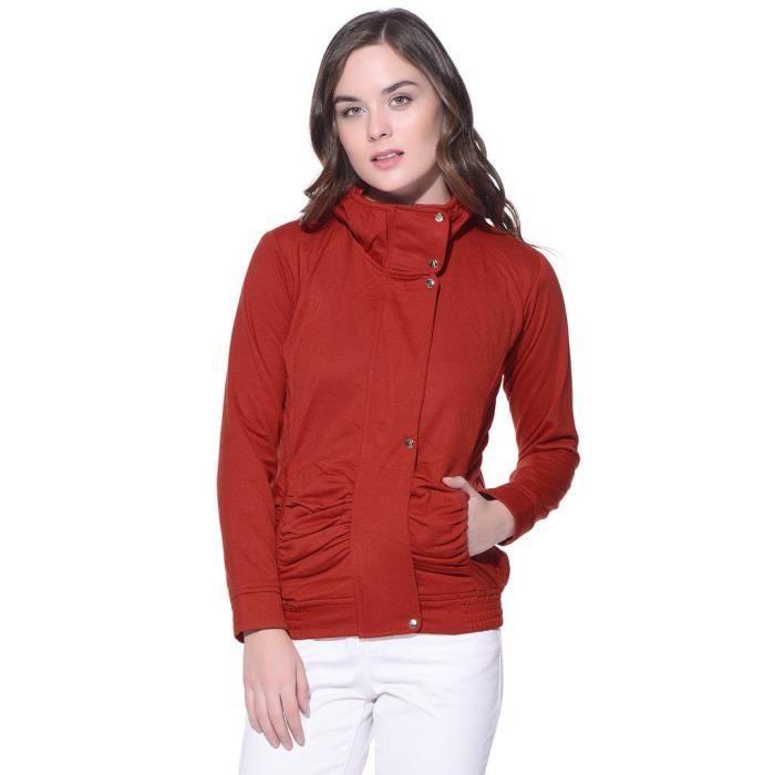 Femme De Polaire 34 Veste Ells9 D'hiver Rouge Taille wzUABI