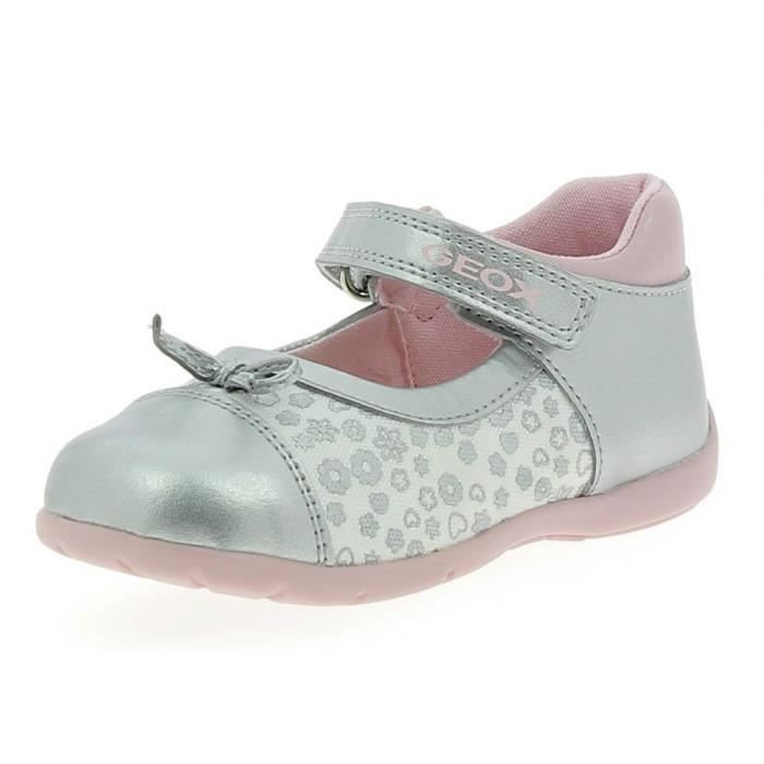 Geox - Geox Elthan Ballerines Fille Argent cnOrE5rCt